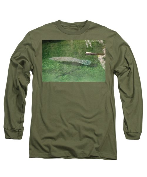 Manatee Long Sleeve T-Shirt by Randy J Heath