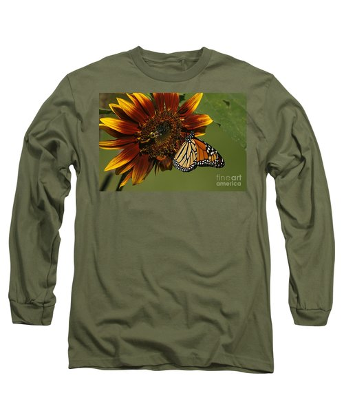 Monarch And The Bee Long Sleeve T-Shirt
