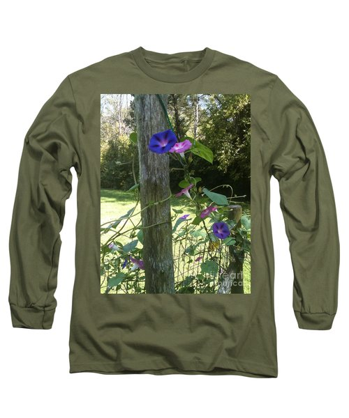 Long Sleeve T-Shirt featuring the photograph Morning Glory by Janice Spivey