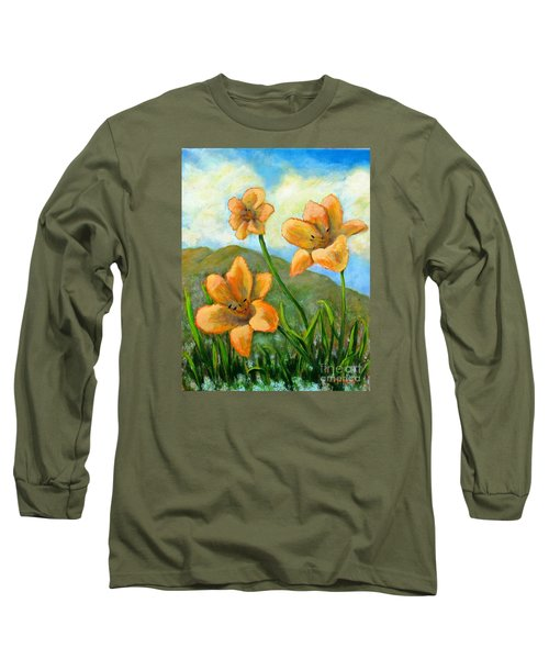 Morning Glow Long Sleeve T-Shirt by Laurie Morgan