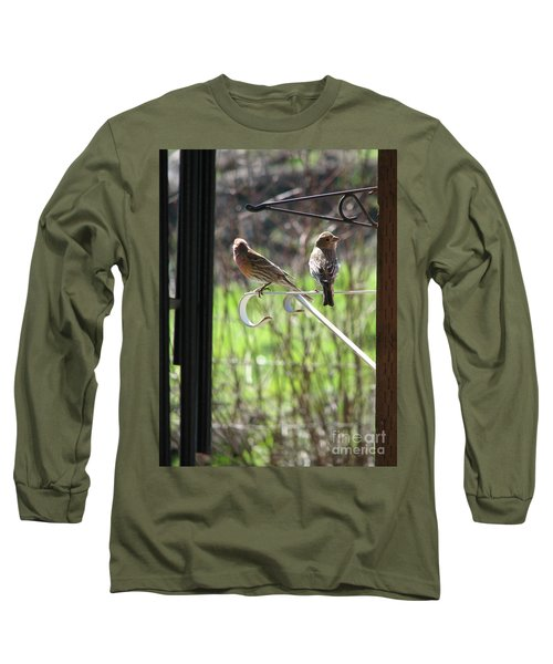 Morning Visitors Long Sleeve T-Shirt by Rory Sagner
