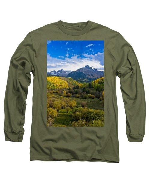 Mount Sneffels Under Autumn Sky Long Sleeve T-Shirt