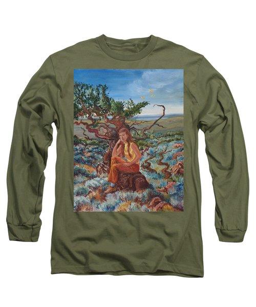 My Sister Lenore In The Cedar Breaks Long Sleeve T-Shirt by Dawn Senior-Trask