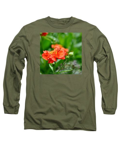 Long Sleeve T-Shirt featuring the photograph Never Boring Red And Green by Tanya  Searcy