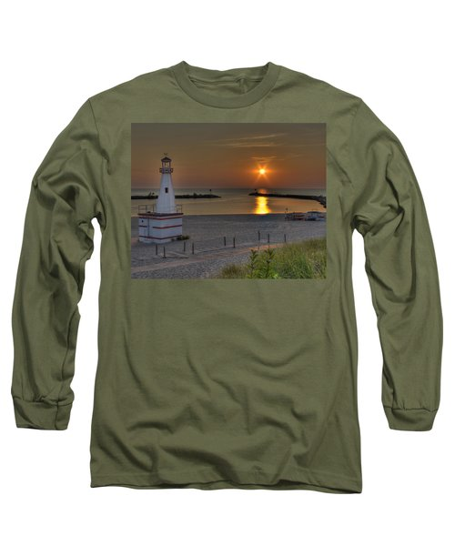 New Buffalo City Beach Sunset Long Sleeve T-Shirt
