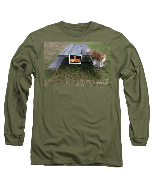Long Sleeve T-Shirt featuring the photograph No Trespassing by Jeannette Hunt