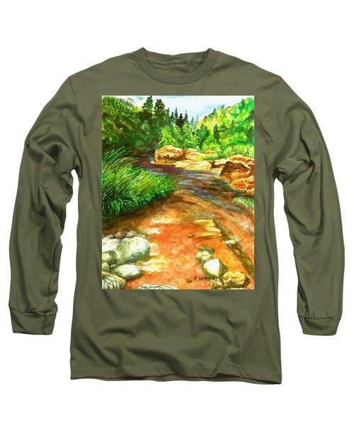 Oak Creek Red Long Sleeve T-Shirt by Eric Samuelson