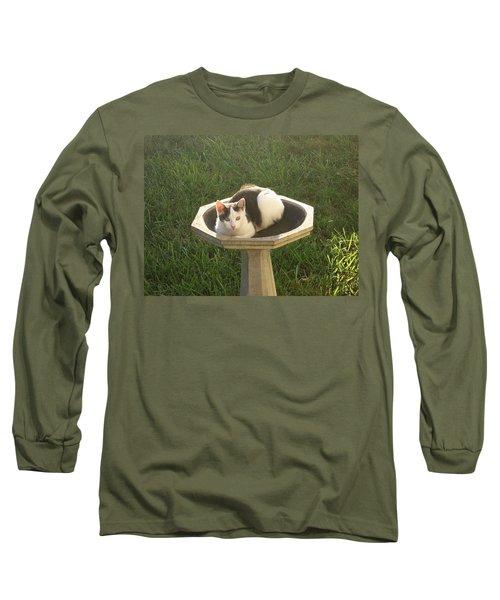 Occupied Bird Bath Long Sleeve T-Shirt