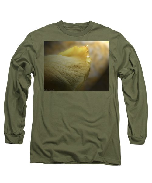 Long Sleeve T-Shirt featuring the photograph Oh So Soft Is The Kiss Of Dew by Debbie Portwood