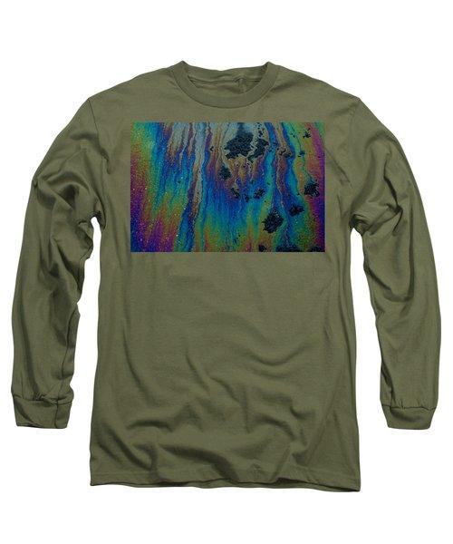 Oil On Pavement Aurora Borealis Long Sleeve T-Shirt