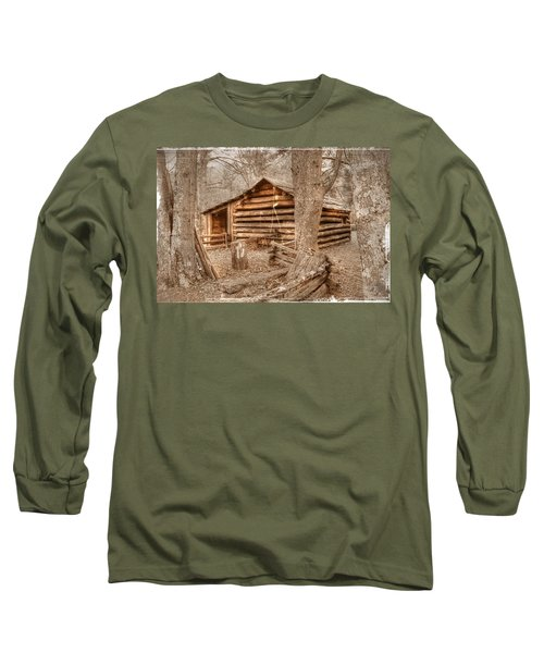 Old Mill Work Cabin Long Sleeve T-Shirt by Dan Stone