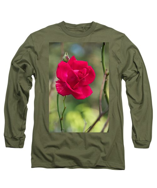 Long Sleeve T-Shirt featuring the photograph One Rose by Joseph Yarbrough