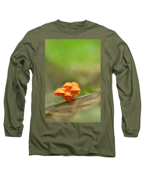 Long Sleeve T-Shirt featuring the photograph Orange Mushrooms by JD Grimes