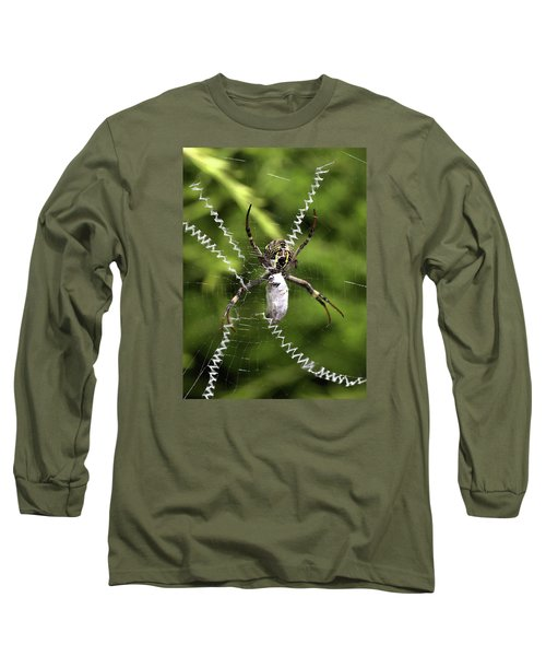 Long Sleeve T-Shirt featuring the photograph Orb Weaver by Joy Watson