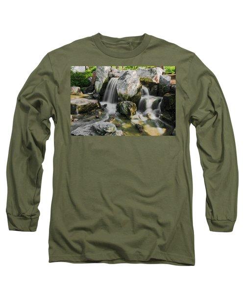 Osaka Garden Waterfall Long Sleeve T-Shirt
