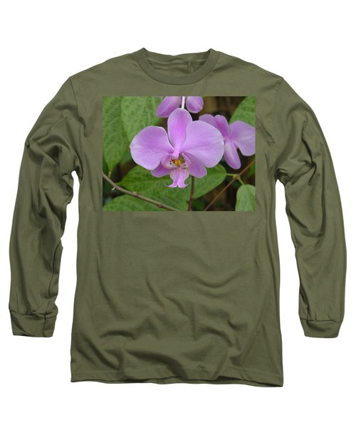 Pale Pink Orchid Long Sleeve T-Shirt