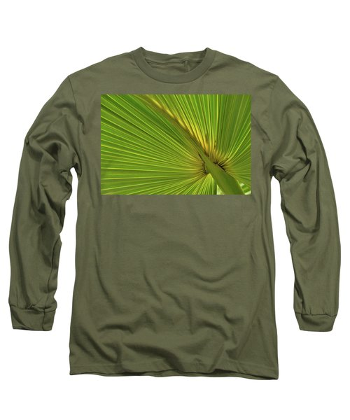 Long Sleeve T-Shirt featuring the photograph Palm Leaf II by JD Grimes