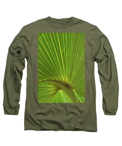 Palm Leaf Long Sleeve T-Shirt