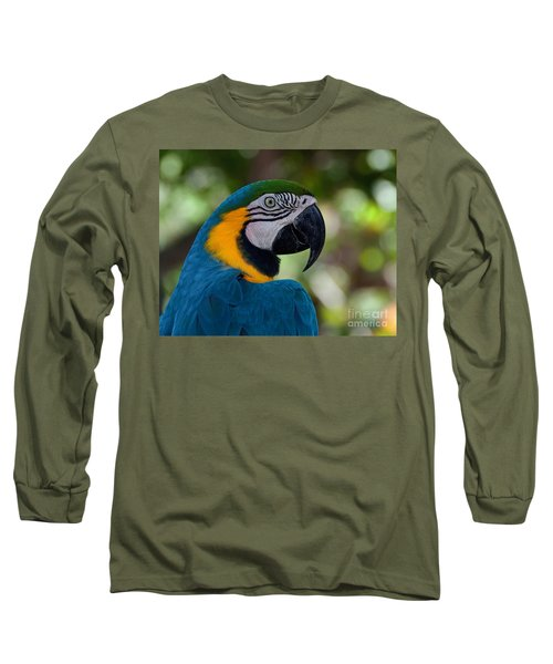 Long Sleeve T-Shirt featuring the photograph Parrot Head by Art Whitton
