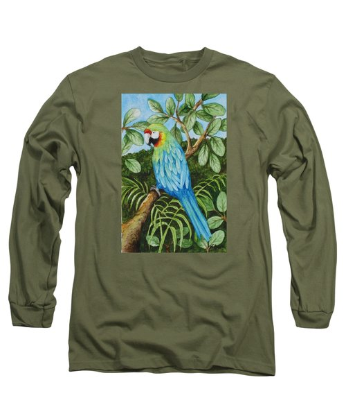 Parrot Long Sleeve T-Shirt by Katherine Young-Beck