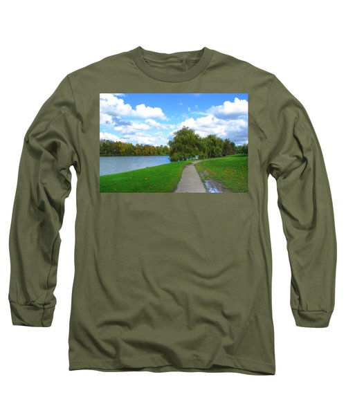 Long Sleeve T-Shirt featuring the photograph Path by Michael Frank Jr