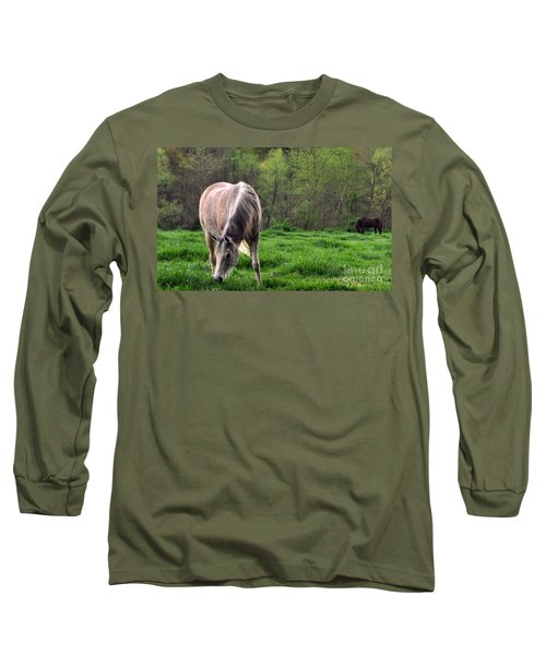 Peaceful Pasture Long Sleeve T-Shirt by Lydia Holly