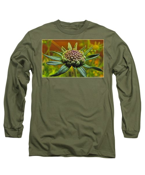 Long Sleeve T-Shirt featuring the photograph Pinchshin Bud by Debbie Portwood