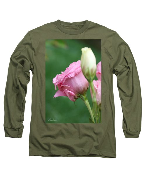 Pink Lisianthus Long Sleeve T-Shirt
