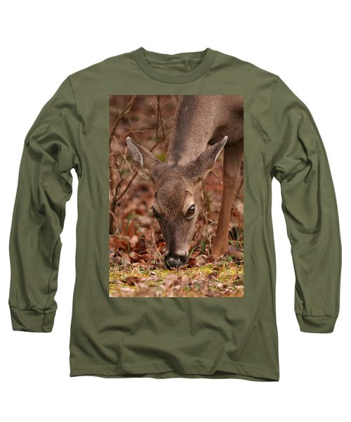 Portrait Of  Browsing Deer Two Long Sleeve T-Shirt