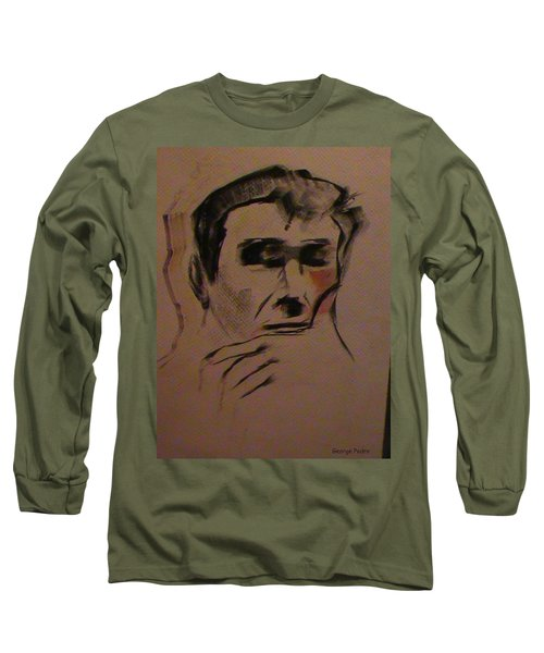 Long Sleeve T-Shirt featuring the painting Portrait Of Frank Frazetta by George Pedro