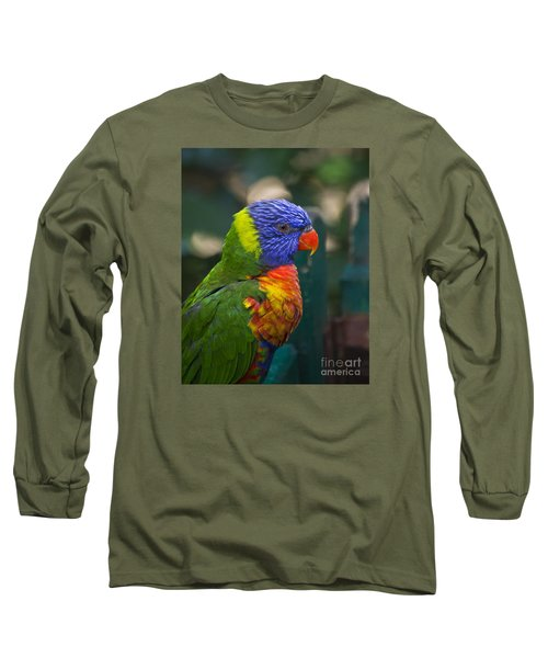 Posing Rainbow Lorikeet. Long Sleeve T-Shirt