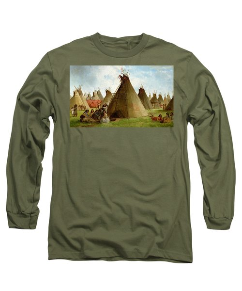 Prairie Indian Encampment Long Sleeve T-Shirt