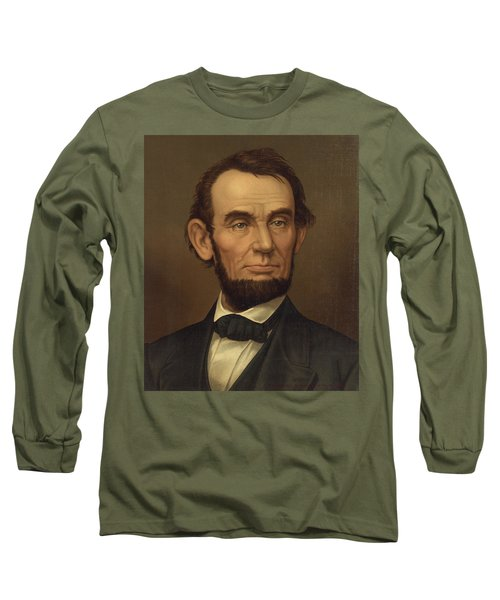Long Sleeve T-Shirt featuring the photograph President Of The United States Of America - Abraham Lincoln  by International  Images