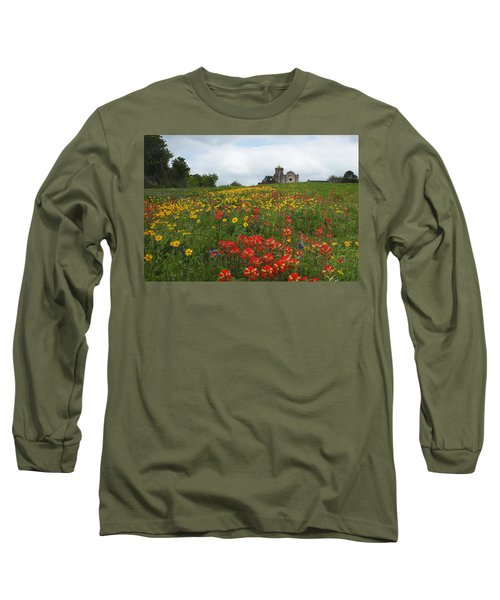 Presidio La Bahia 1 Long Sleeve T-Shirt by Susan Rovira