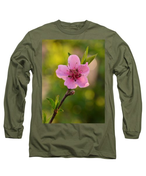 Pretty Pink Peach Long Sleeve T-Shirt