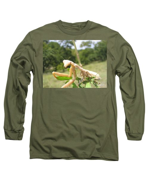 Long Sleeve T-Shirt featuring the photograph Preying Mantis by Mark Robbins