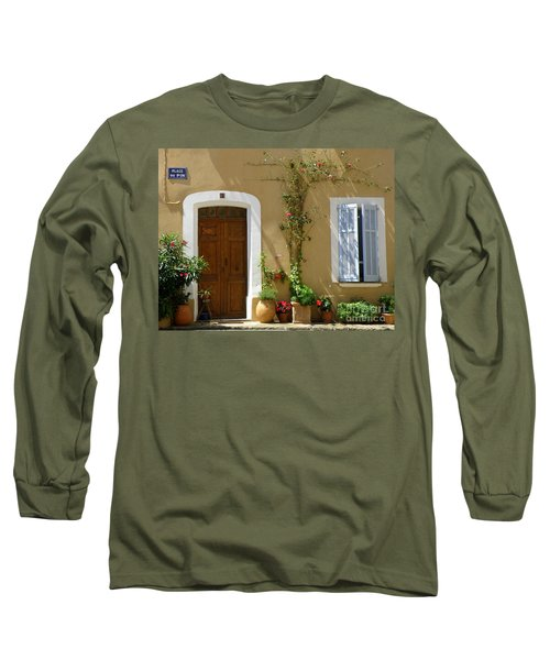 Long Sleeve T-Shirt featuring the photograph Provence Door 3 by Lainie Wrightson