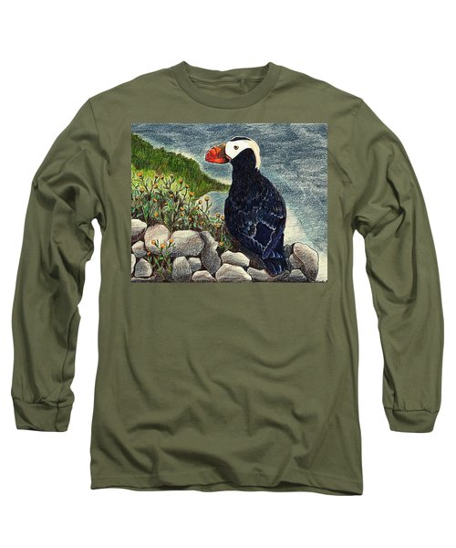 Puffin Long Sleeve T-Shirt by Wendy McKennon