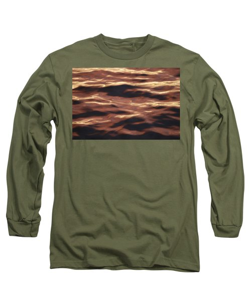 Purple Abstract Water Long Sleeve T-Shirt