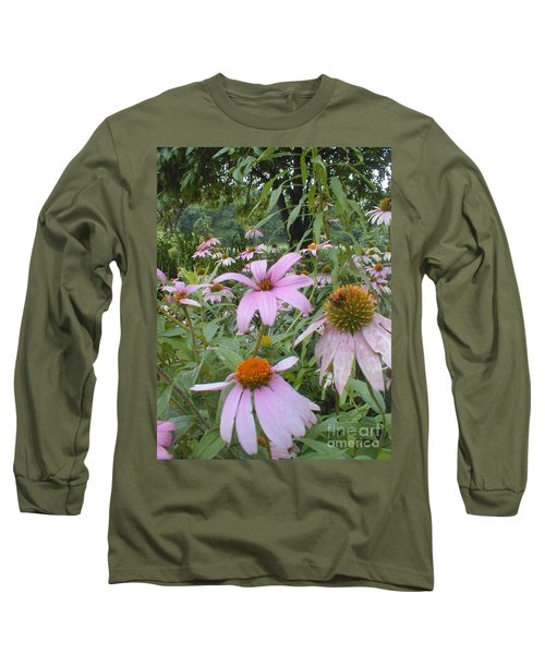 Purple Coneflowers Long Sleeve T-Shirt