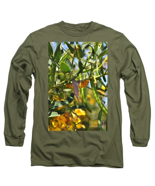 Purple Pink Green Chrysalis  Long Sleeve T-Shirt