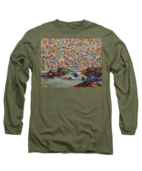 Long Sleeve T-Shirt featuring the painting Race Day by Judith Rhue