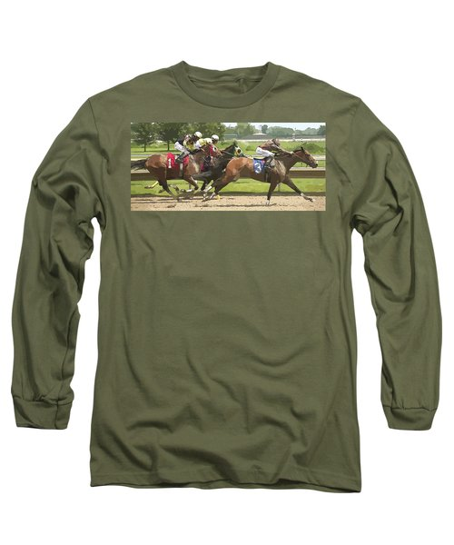 Long Sleeve T-Shirt featuring the photograph Racetrack Views by Alice Gipson