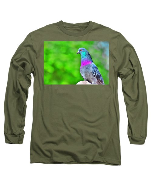 Rainbow Pigeon Long Sleeve T-Shirt