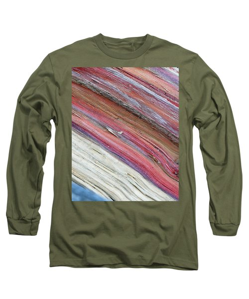 Long Sleeve T-Shirt featuring the photograph Rainbow Wood by Lisa Phillips