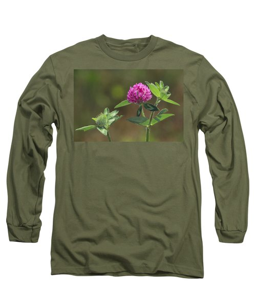 Red Clover Blossom Long Sleeve T-Shirt