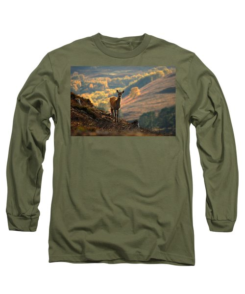 Red Deer Calf Long Sleeve T-Shirt