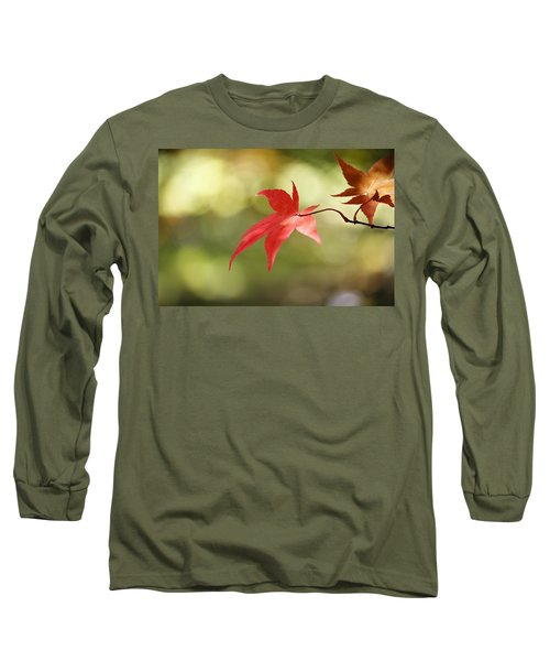 Long Sleeve T-Shirt featuring the photograph Red Leaf. by Clare Bambers