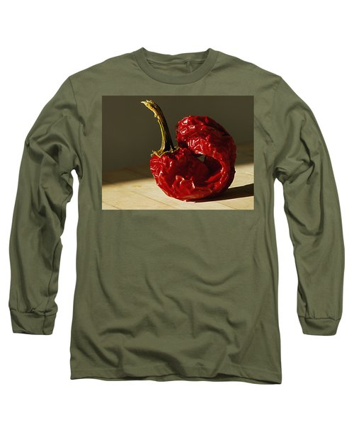 Red Pepper Long Sleeve T-Shirt by Joe Schofield