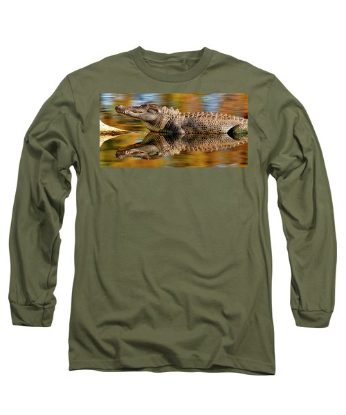 Relection Of An Alligator Long Sleeve T-Shirt